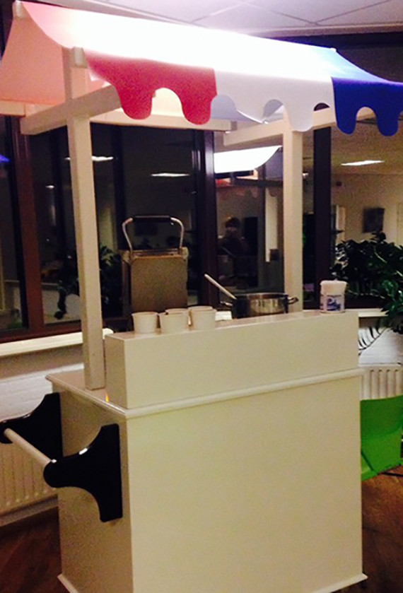 De stroopwafelkar met Hollands dakje huren
