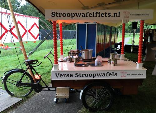 De stroopwafel-bakfiets huren met verse stroopwafels